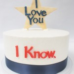 I love you engagement cake - Star Wars