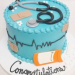 doctor or nurse graduation cake