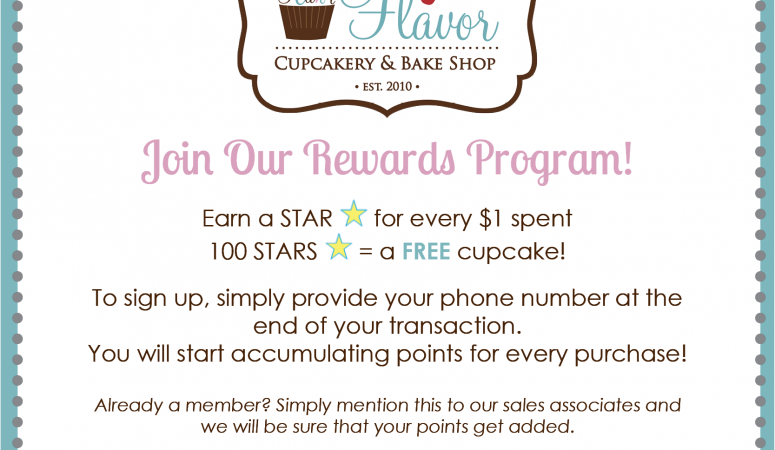 Join Our Rewards Program and Earn FREE Cupcakes!