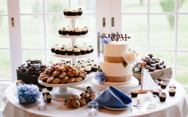 wedding dessert display – Paige Victoria Photography 1